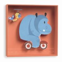 Väggdekor - Flodhäst