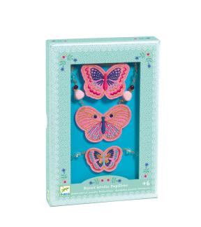 Smyckeset Broderade Fjärilar -