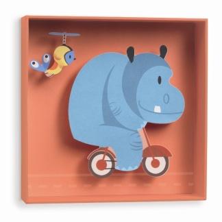 Väggdekor - Flodhäst -