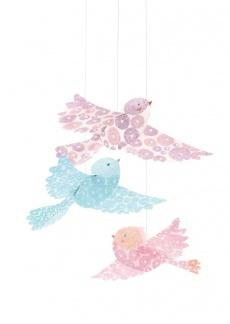 Dekoration - Fåglar Glitter -