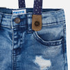 Mayoral - Shorts, denim, m hängslen - Stl. 12 mån