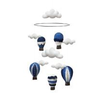 Mobil 100 % Ull - Blå Luftballonger