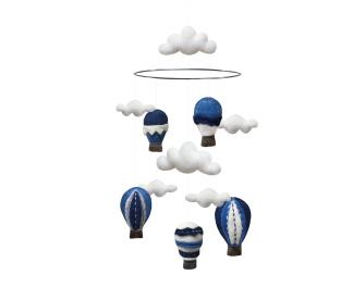 Mobil 100 % Ull - Blå Luftballonger -