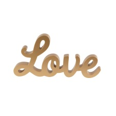 Dekoration - Love, guld