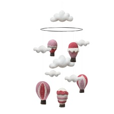 Mobil 100 % Ull - Rosa Luftballonger