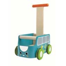 Plan Toys Lära-gå-vagn - Blå Buss