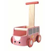 Plan Toys Lära-gå-vagn - Rosa Buss