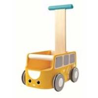 Plan Toys Lära-gå-vagn - Gul Buss