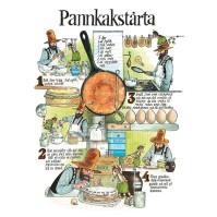 Vykort A4 Pannkakstårta Recept Pettson & Findus