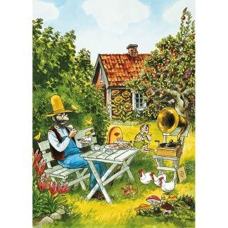 Affisch Pettson & Findus Kalas i Trädgården -