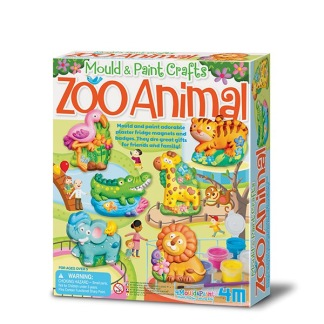 Mould & Paint Zoo Animals -