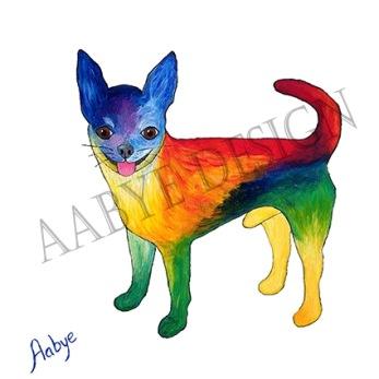 Chihuahua Poster 30 x 30 cm -