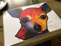 Chihuahua bordstablett