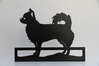 Siluett Långhårig Chihuahua -
