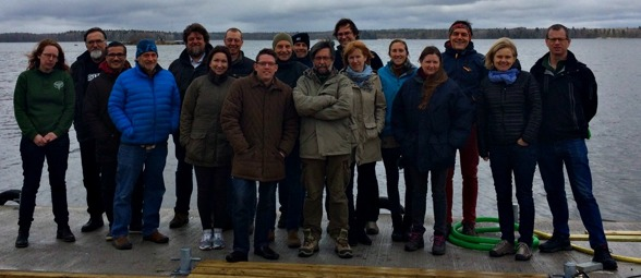 Helmut Hillebrand and the participants at SITES AquaNET start meeting. Phot by Ida Taberman
