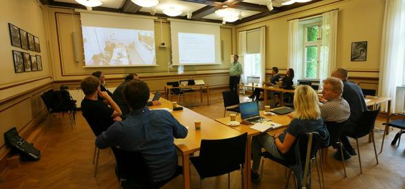SITES station presentations. Photo by Hélène Hagerman