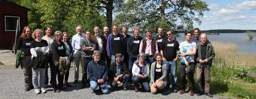 Deltagare vid SITES-Waters workshop på Erken juni 2015