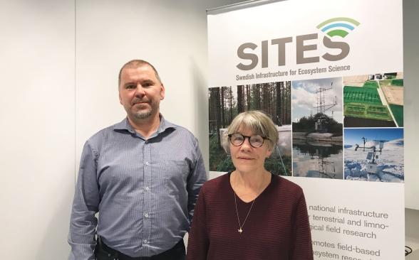 SITES Styrgruppsordförande Barbara Ekbom tillsammans med SITES föreståndare, Stefan Bertilsson. Foto av Ida Taberman.