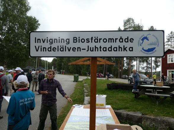 Invigning av Biosfärsområde Vindelälven - Juhtadahka. Fotograf: J. Wallsten.