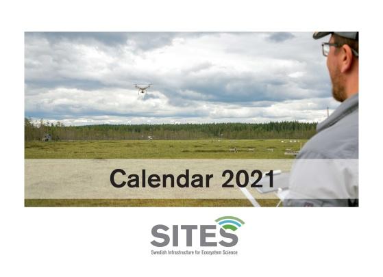 Framsidan till SITES kalender 2021. SITES Spectral, Svartberget. Foto: Andreas Palmén.