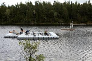 The SITES AquaNet platform at Svartberget. Photo: Johannes Tiwari.