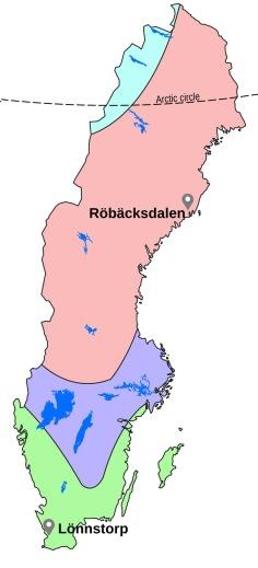 Location of SITES stations in Lönnstorp and Röbäcksdalen.