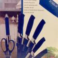 Knivset 8 delar med knivställ, Blå