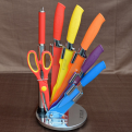Knivset 8 delar med knivställ, mix