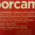 Rektangulär ugnsform med lock, liten
