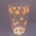 3st glas med blommönster - 3st glas med blommönster