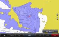 Skärmdump från djupmätning