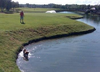 Var badar man bäst efter 9 hål på Ringenäs golfklubb?
