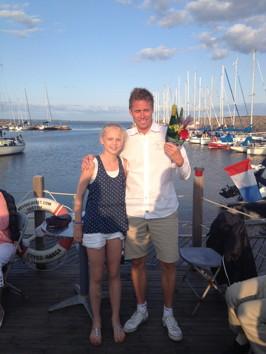 Lovisa Lindberg avtackar Jörgen Persson som med värme och generositet delade med sig av sin fantastiska bordtenniskarriär som spänner över 7 OS, ett VM- och ett EM guld!