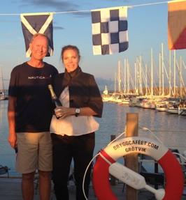Tack sommarens epilog Gäst på Bryggan, världsmästarinnan i skytte - Christina Bengtsson som fick uppleva pärlemorljuset i Grötvik!