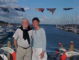 Owe Bergman med Olivia och Grötviks fantastiska backdrop
