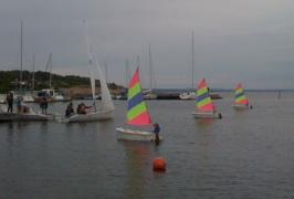 Synkron segling med HHS seglare på besök
