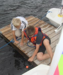 Isac & Jonas tar vatten temp