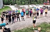 Bild från ett träningstillfälle med Westeros Trail Running Society innan the Rap Race