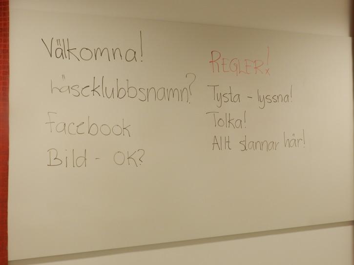 Instruktioner för första träffen. Foto: Tinalina Karlsson Glöde