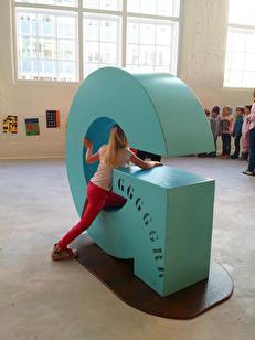 ABC bokstavslek på västmanlands läns museum. 2015.