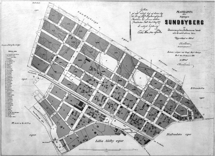 Sundbybergs första stadsplan