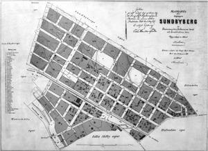 Plankarta Sundbyberg 1898