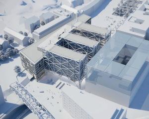 AMFs förslag på station sedd från Solnahållet