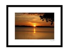 Solnedgången över Bolmen