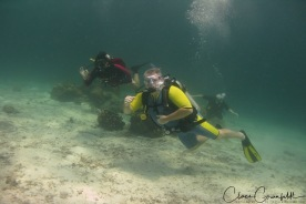 Först dyket med Peter Thailand - Dykning Koh Haa
