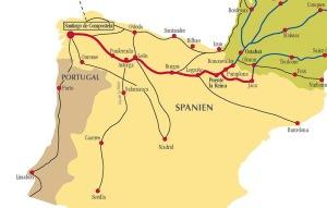 Här är sträckingen på El Camino. Vi kommer bara att gå de sista 12 milen :)