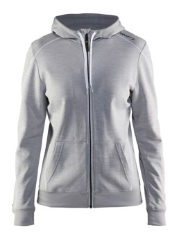 CRAFT In-The-Zone Full Zip Hood W - CRAFT In-The-Zone Full Zip Hood W, Grey Melange, Medium