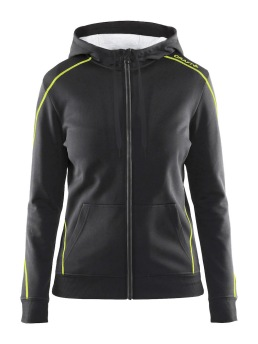 CRAFT In-The-Zone Full Zip Hood W - CRAFT In-The-Zone Full Zip Hood W, Asphalt/Flumino, XSmall