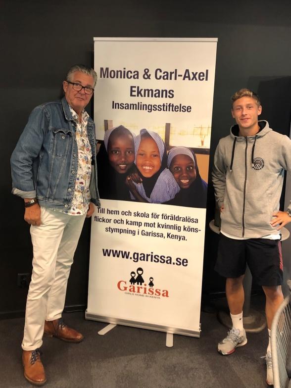 Bo Lindell tillsammans med Anton Andreasson från Fristadskolan.