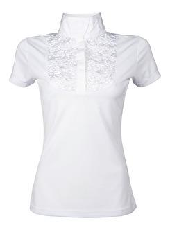 Tävlingsskjorta - Siena Ruffle - Vit - XS
